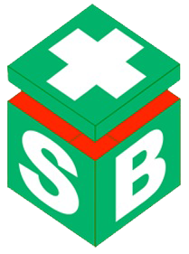 Fluorescent Blue And White Flagging Tapes