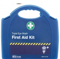 First Aid Triple Eye Wash Kit With Wall Bracket