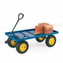Rough Terrain Versatile Platform Truck with Mesh Deck