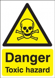 Danger Toxic Hazard Sign