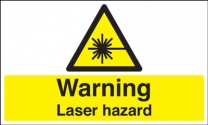 Warning Laser Hazard Caution Signs