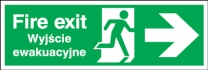 Fire Exit Polish Arrow Right Sign