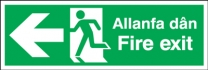 Fire Exit Allanfa Dan Arrow Left Sign