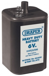 Size PJ996 Heavy Duty 6V Alkaline Battery Draper 6V Battery