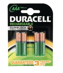 Duracell Rechargeable Batteries AAA 4 Pack