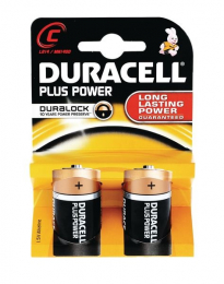 Duracell Plus C Type Batteries Pack Of Two