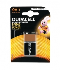 Duracell Plus 9V Battery Pack Of One