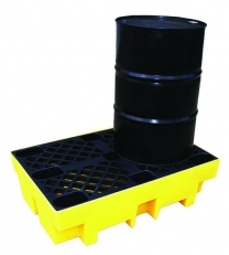 Medium Density Polyethylene Drum Spill Pallets For 2 Drums