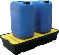 Hazardous Spill And Drip Polyethylene Trays Size 155 x 400 x 600mm (H x W x L) |capacity of 25L Containers x 2| capacity of 25L Drums x 1 | Load capacity 50kg | Sump capacity 20 Litres