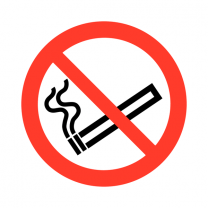 No Smoking Eco Friendly Safety Labels On-a-Roll