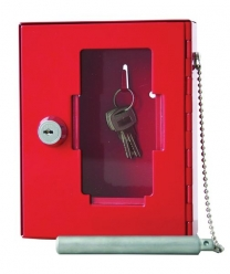 Emergency Key Box In Red With Hammer And Chain