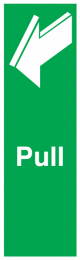 Pull To Open Symbol Sign