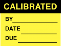Calibrated By Date Due Fluorescent Write On Labels