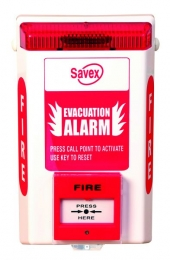 Battery Operated Fire Call Point Savex Alarms With Call Point