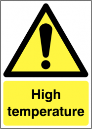 High Temperature Hazard Signs