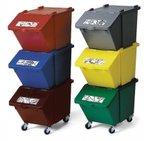 Waste Separation Stackable Recycling Boxes