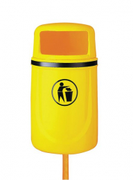 Osprey Outdoor Litter Bins Complete With Liner Yellow