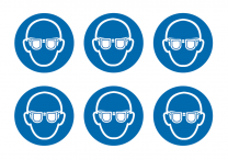Wear Eye Protection Symbol Vinyl Labels On-A-Sheet