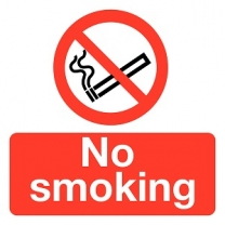 No Smoking Prohibition Safety Labels 10 Pack