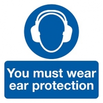 You Must Wear Ear Protection Safety Label Pack