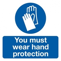 You Must Wear Hand Protection Safety Label Pack