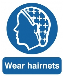 Wear Hairnets Sign