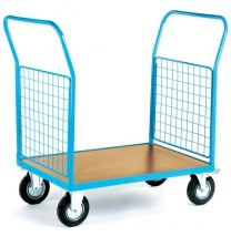 Standard 2 Mesh Ends Warehouse Platform Trucks