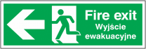 Fire Exit Polish Arrow Left Sign