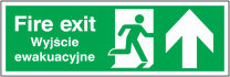 Fire Exit Polish Arrow Up Sign