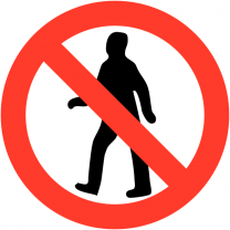 No Pedestrians Reflective Road Traffic Signs