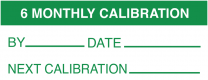 6 Monthly Calibration By Date Next Write On Labels