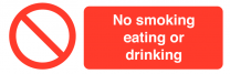 No Smoking Eating Or Drinking On-the-Spot Safety Labels