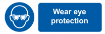 Wear Eye Protection Mandatory On-the-Spot Safety Labels