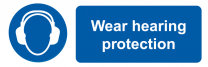 Wear Hearing Protection Mandatory On-the-Spot Safety Labels
