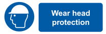 Wear Head Protection Mandatory On-the-Spot Safety Labels