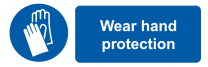Wear Hand Protection Mandatory On-the-Spot Safety Labels