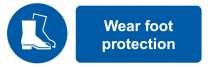 Wear Foot Protection Mandatory On-the-Spot Safety Labels