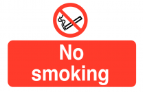 No Smoking On the Spot Safety Labels Pack of 6