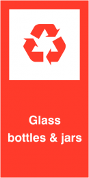 Glass Bottles and Jars Self Adhesive Vinyl Recycling Labels