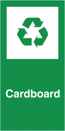 Cardboard Self Adhesive Vinyl Recycling Labels