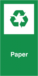 Paper Self Adhesive Vinyl Recycling Labels