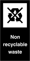 Non Recyclable Waste Self Adhesive Vinyl Recycling Labels