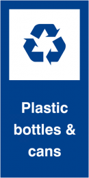 Plastic Bottles and Cans Self Adhesive Vinyl Recycling Labels