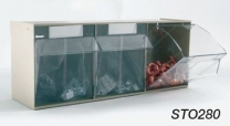 Clear Transparent Storage Box 3 Compartments