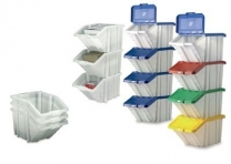 Multi Function Waste Separation Containers Pack Of 4