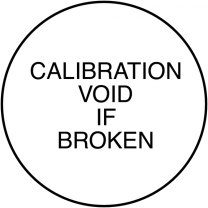 Calibration Void If Broken Tamper Resistant Labels