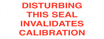 Calibration Invalidation Tamper Resistant Labels