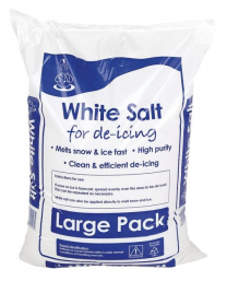 White De-icing Rock Salt 25KG For De-Icing Snow And Ice