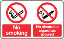 No Electronic Cigarettes Allowed Signs