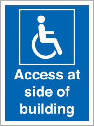 Access At Side Of Building Accessible Sign